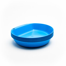 Wildo Camper Plate Deep Set Unicolor 6x Light Blue